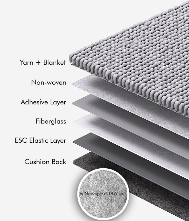 newspec carpet tile cushion backing
